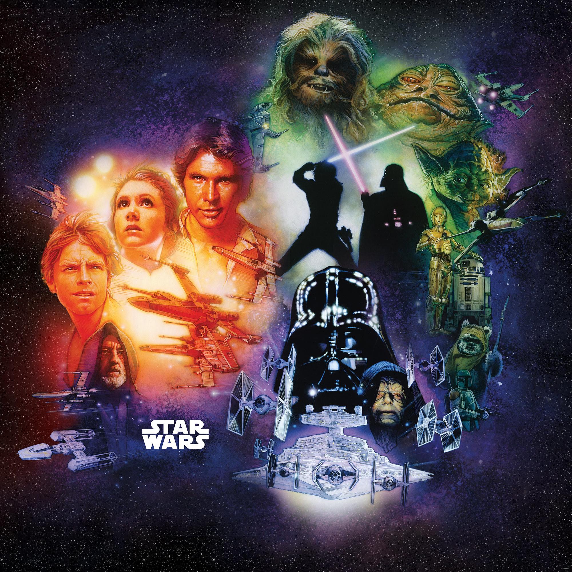 Disney Edition 4 Kinderbehang Komar - Kinderkamer behang Star Wars Classic Poster Collage