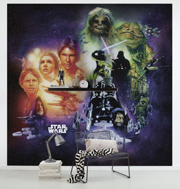 Disney Edition 4 Kinderbehang Komar - Kinderkamer behang Star Wars Classic Poster Collage
