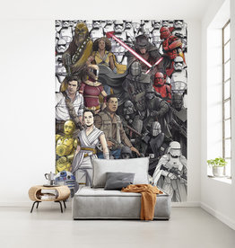 Disney Edition 4 Kinderbehang Komar - Kinderkamer behang Star Wars Retro Cartoon