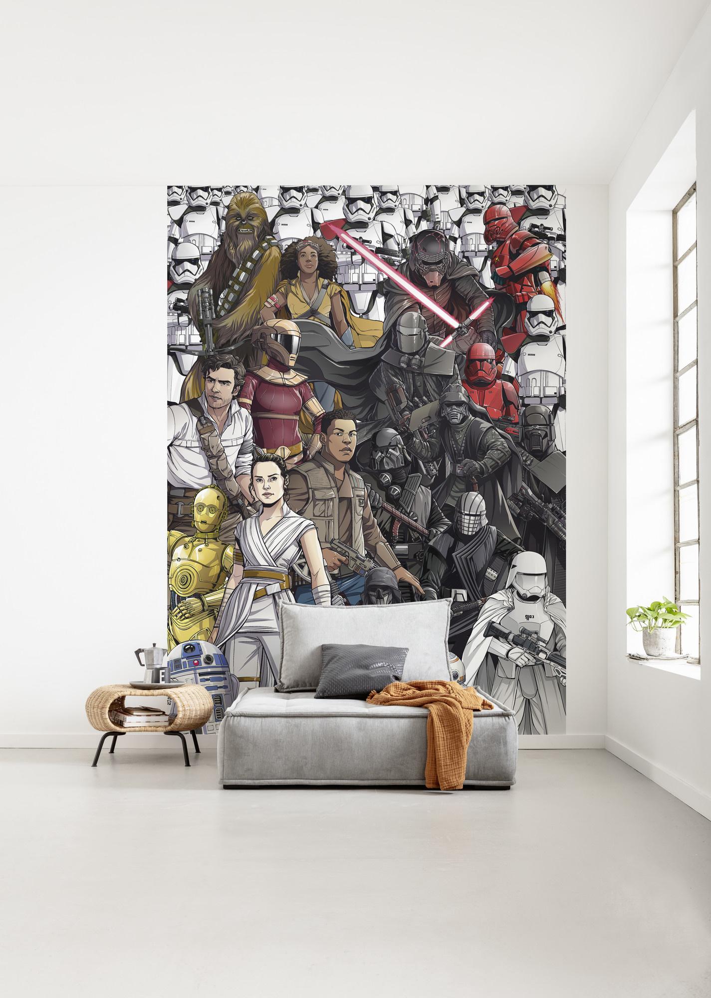 Disney Edition 4 Kinderbehang Komar - Kinderkamer behang Star Wars Retro Cartoon