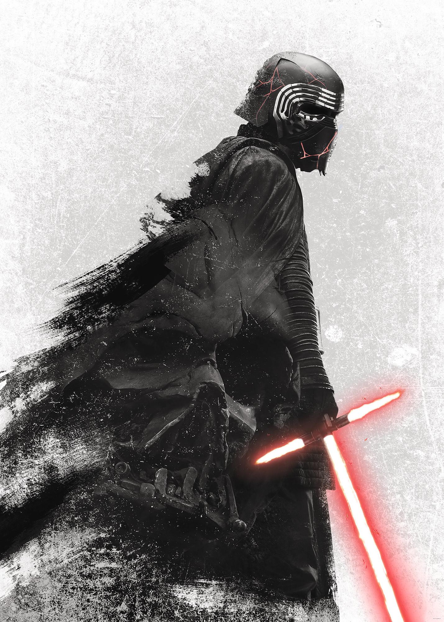 Disney Edition 4 Kinderbehang Komar - Kinderkamer behang Star Wars Kylo Vader Shadow