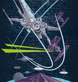 Disney Edition 4 Kinderbehang Komar - Kinderkamer behang Star Wars Classic Concrete X-Wing