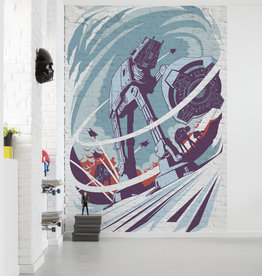 Disney Edition 4 Kinderbehang Komar - Kinderkamer behang Star Wars Classic Concrete Hoth