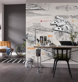 Disney Edition 4 Kinderbehang Komar - Kinderkamer behang  STAR WARS BLUEPRINTS