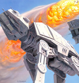 Disney Edition 4 Kinderbehang Komar - Kinderkamer behang Star Wars Classic RMQ Hoth Battle AT-AT