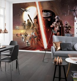 Disney Edition 4 Kinderbehang Komar - Kinderkamer behang  STAR WARS EP7 COLLAGE