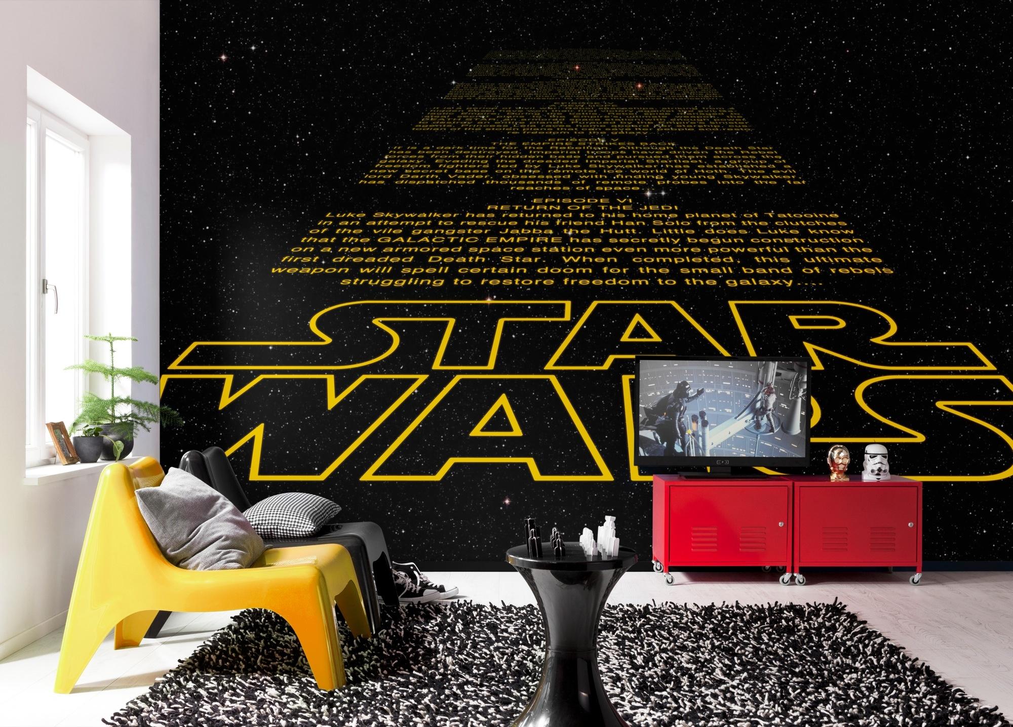 Disney Edition 4 Kinderbehang Komar - Kinderkamer behang  STAR WARS INTRO