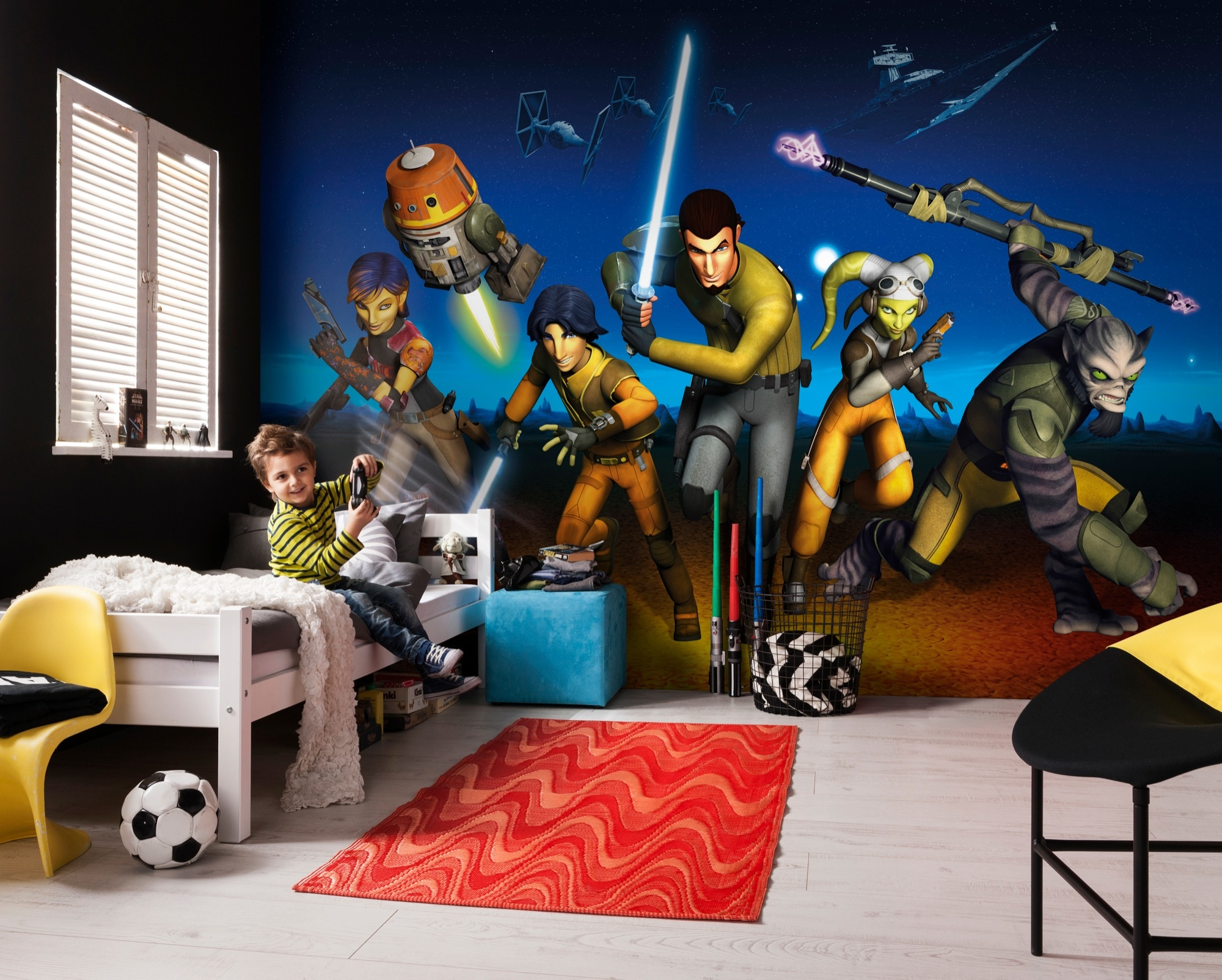 Disney Edition 4 Kinderbehang Komar - Kinderkamer behang  STAR WARS REBELS RUN