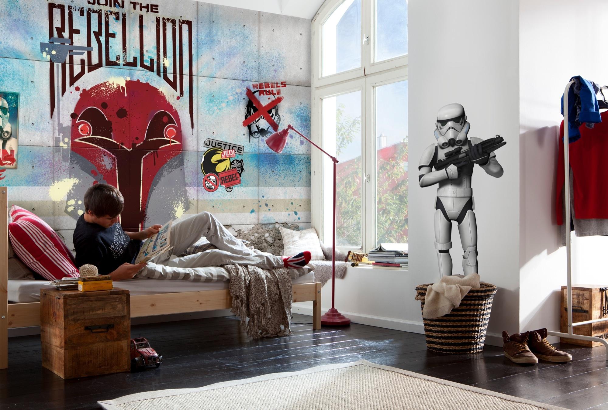 Disney Edition 4 Kinderbehang Komar - Kinderkamer behang  STAR WARS REBELS WALL