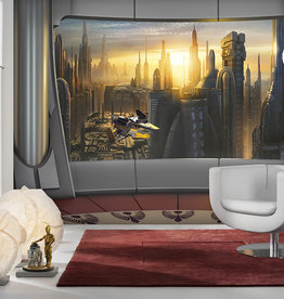 Disney Edition 4 Kinderbehang Komar - Kinderkamer behang  STAR WARS CORUSCANT VIEW