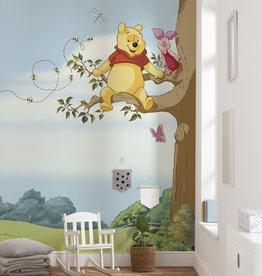 Disney Edition 4 Kinderbehang Komar - Kinderkamer behang WINNIE POOH TREE
