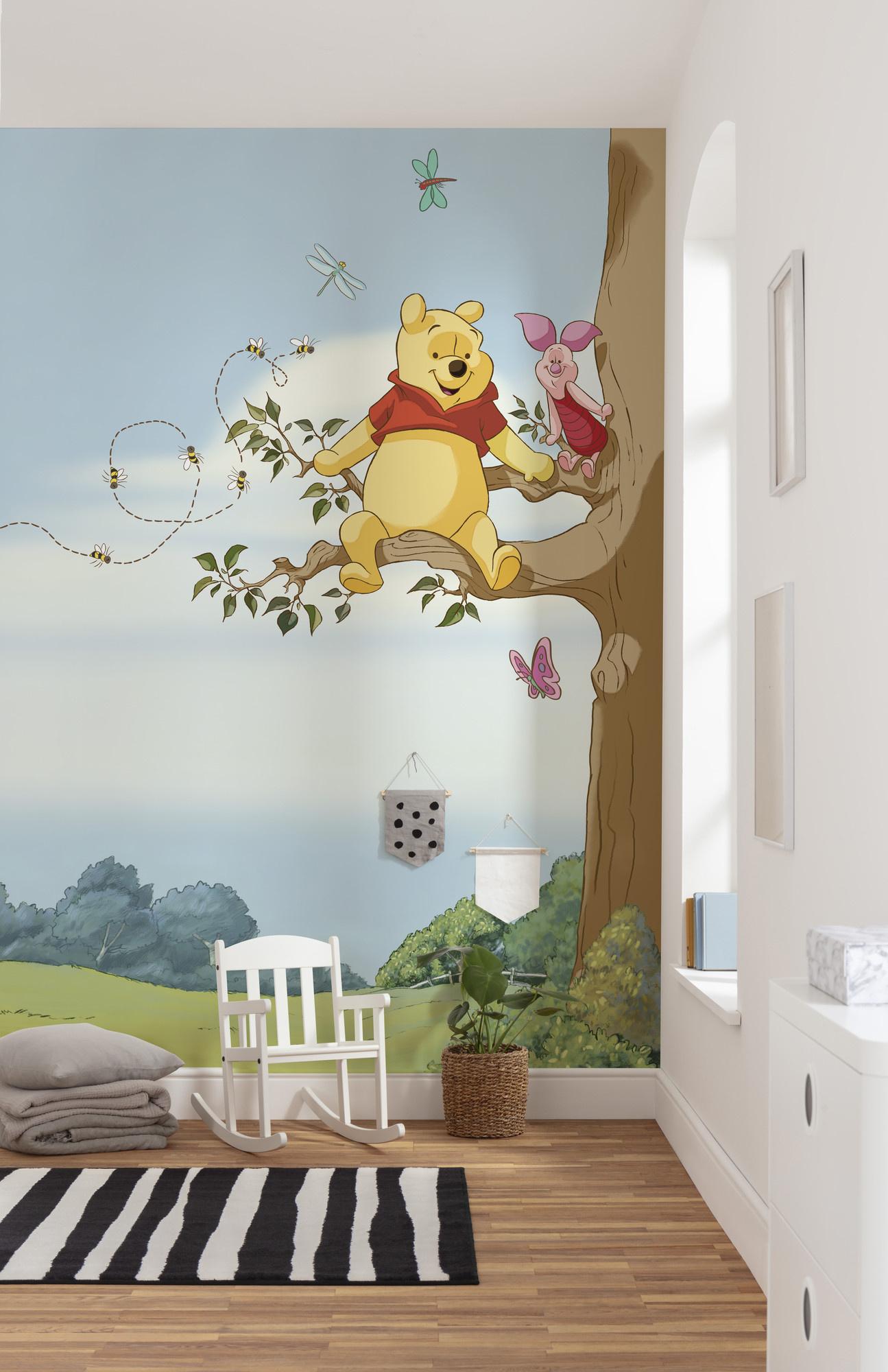 Disney Edition 4 Kinderbehang Komar - Kinderkamer behang WINNIE POOH TREE