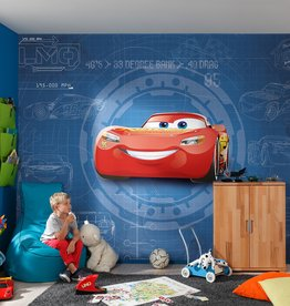 Disney Edition 4 Kinderbehang Komar - Kinderkamer behang  CARS3 BLUEPRINT