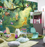 Disney Edition 4 Kinderbehang Komar - Kinderkamer behang  LION KING JUNGLE