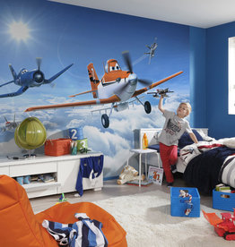 Disney Edition 4 Kinderbehang Komar - Kinderkamer behang DISNEY PLANES ABOVE THE CLOUD