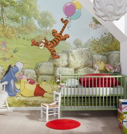 Disney Edition 4 Kinderbehang Komar - Kinderkamer behang WINNIE POOH BALLOONING