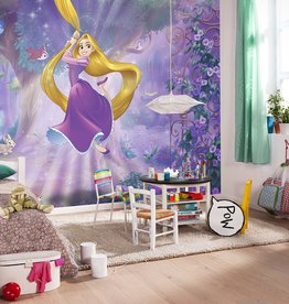 Disney Edition 4 Kinderbehang Komar - Kinderkamer behang RAPUNZEL