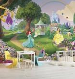 Disney Edition 4 Kinderbehang Komar - Kinderkamer behang DISNEY PRINCESS RAINBOW