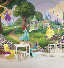 Disney Edition 4 Kinderbehang Komar - Kinderkamer behang DISNEY PRINCESS RAINBOW