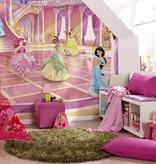 Disney Edition 4 Kinderbehang Komar - Kinderkamer behang GLITZERPARTY PRINCESS