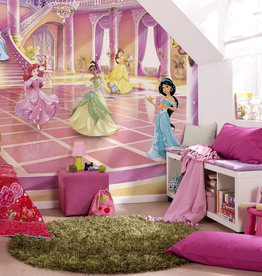 Disney Edition 4 Kinderbehang Komar - Kinderkamer behang GLITZERPARTY PRINCESS
