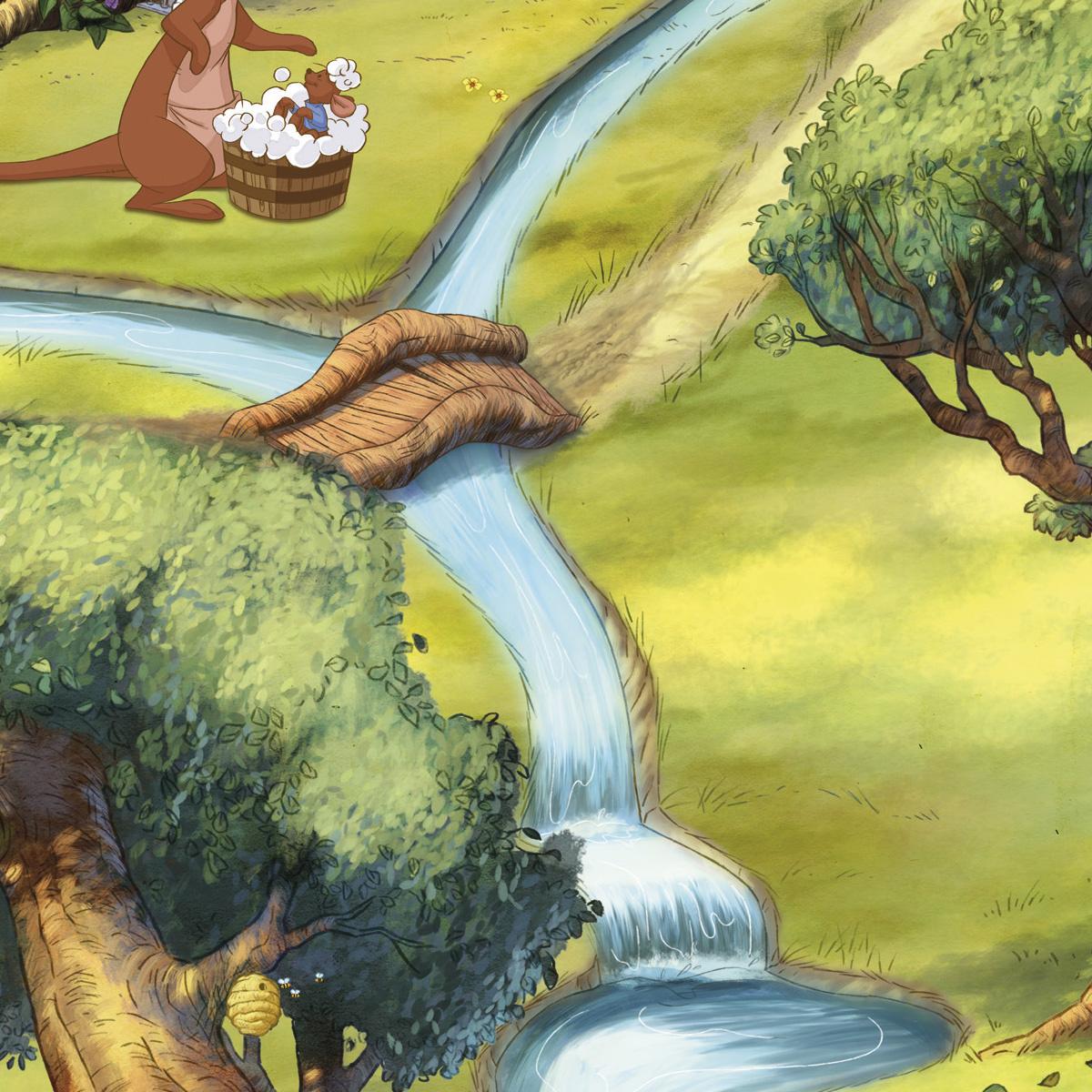 Disney Edition 4 Kinderbehang Komar - Kinderkamer behang DISNEY HUNDERTMORGENWALD