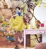 Disney Edition 4 Kinderbehang Komar - Kinderkamer behang DANCING SNOW WHITE