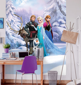 Disney Edition 4 Kinderbehang Komar - Kinderkamer behang FROZEN WINTER LAND