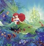 Disney Edition 4 Kinderbehang Komar - Kinderkamer behang ARIEL'S CASTLE