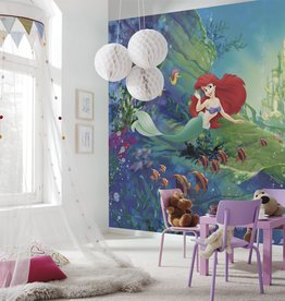 Disney Edition 4 Kinderbehang Komar - Kinderkamer behang ARIEL'S CASTLE
