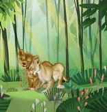 Disney Edition 4 Kinderbehang Komar - Kinderkamer behang Lion King Love
