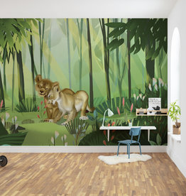 Disney Edition 4 Kinderbehang Komar - Kinderkamer behang Lion King Love