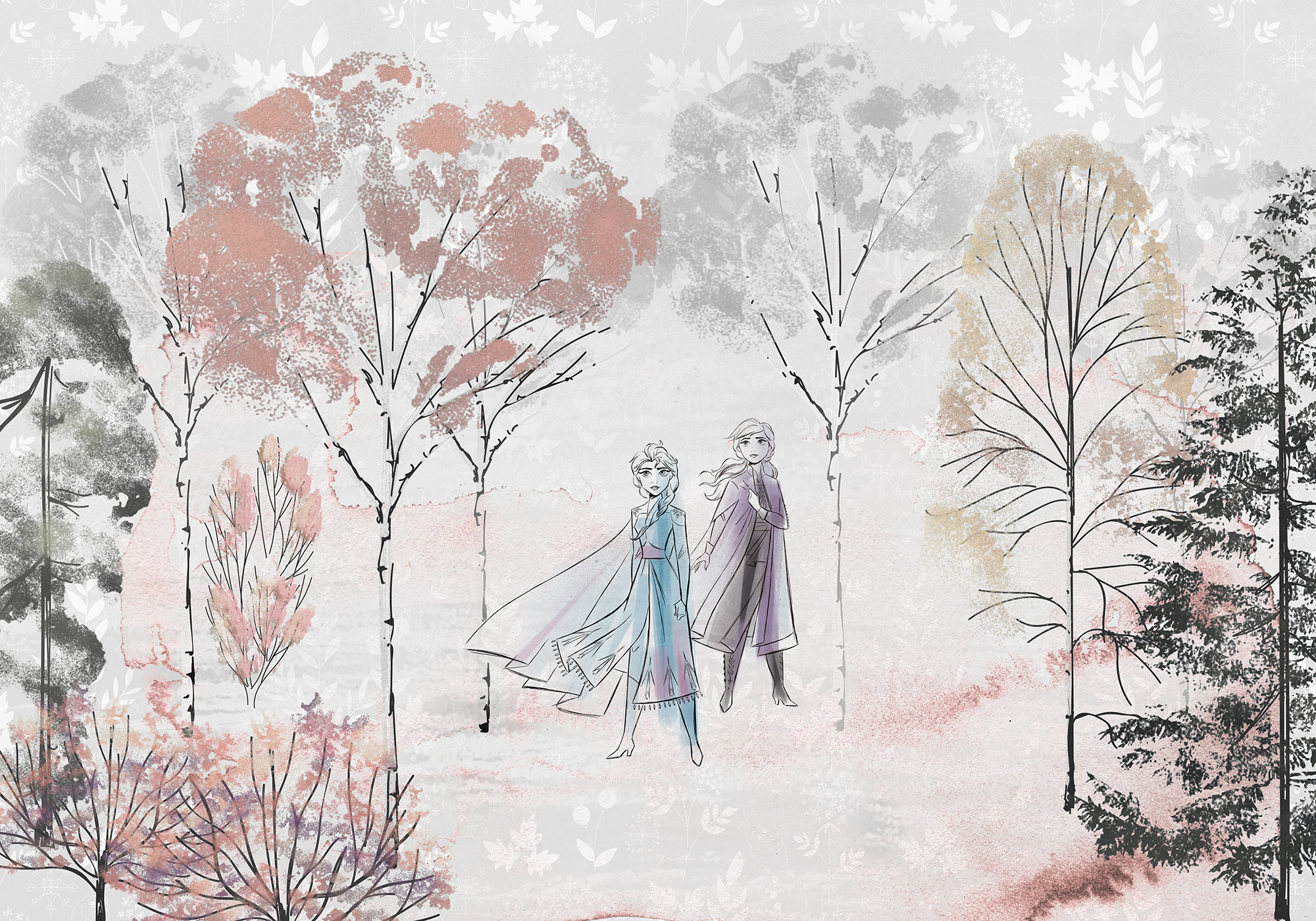 Disney Edition 4 Kinderbehang Komar - Kinderkamer behang Frozen Natural Spirit