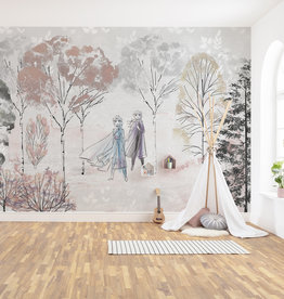 Disney Edition 4 Kinderbehang Komar - Kinderkamer behang Frozen Natural Spirit