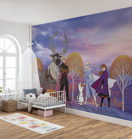 Disney Edition 4 Kinderbehang Komar - Kinderkamer behang Frozen Autumn Forest
