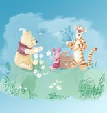 Disney Edition 4 Kinderbehang Komar - Kinderkamer behang Winnie Pooh Picnic