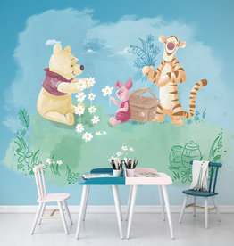 Disney Edition 4 Kinderbehang Komar - Kinderkamer behang Winnie Pooh Picnic
