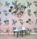 Disney Edition 4 Kinderbehang Komar - Kinderkamer behang Mickey Fab5
