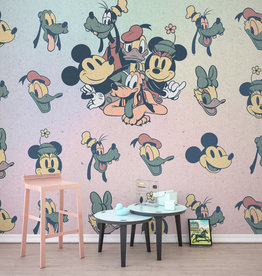 Disney Edition 4 Kinderbehang Komar - Kinderkamer behang Mickey Fab5