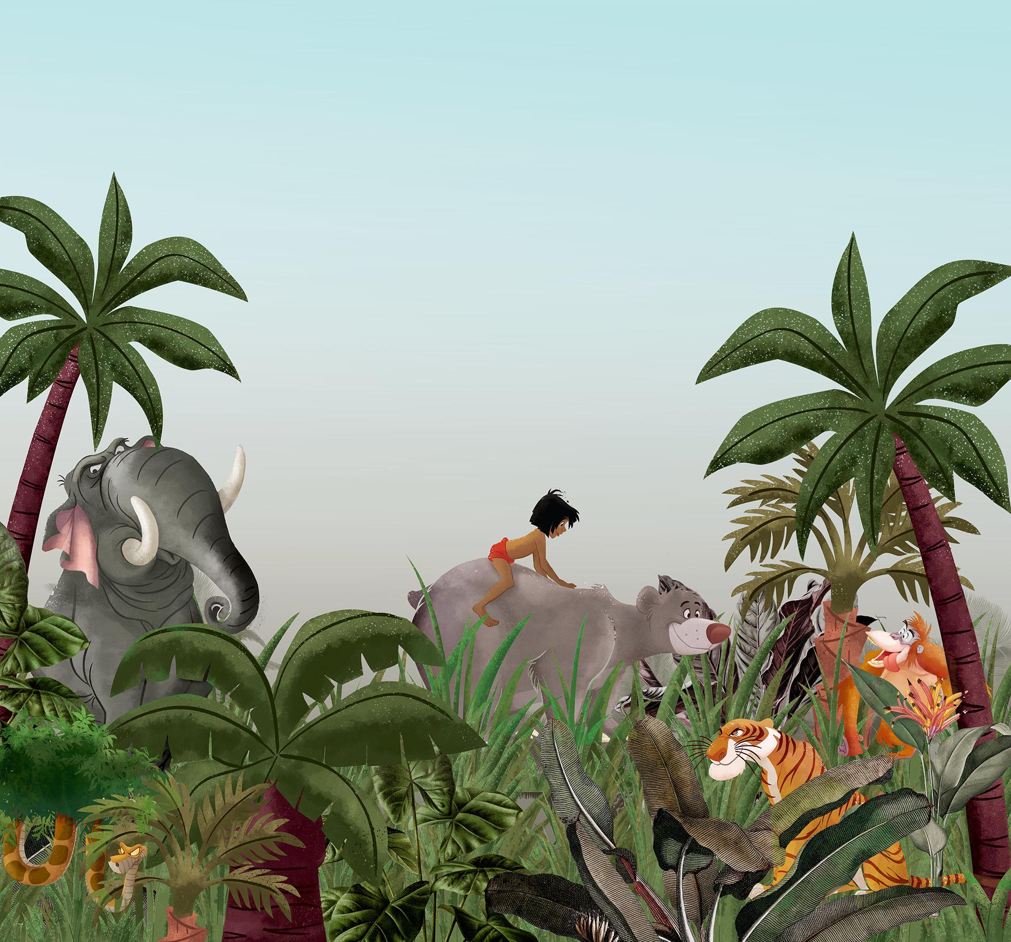 Disney Edition 4 Kinderbehang Komar - Kinderkamer behang Jungle Book