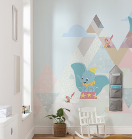 Disney Edition 4 Kinderbehang Komar - Kinderkamer behang Dumbo flying elephant