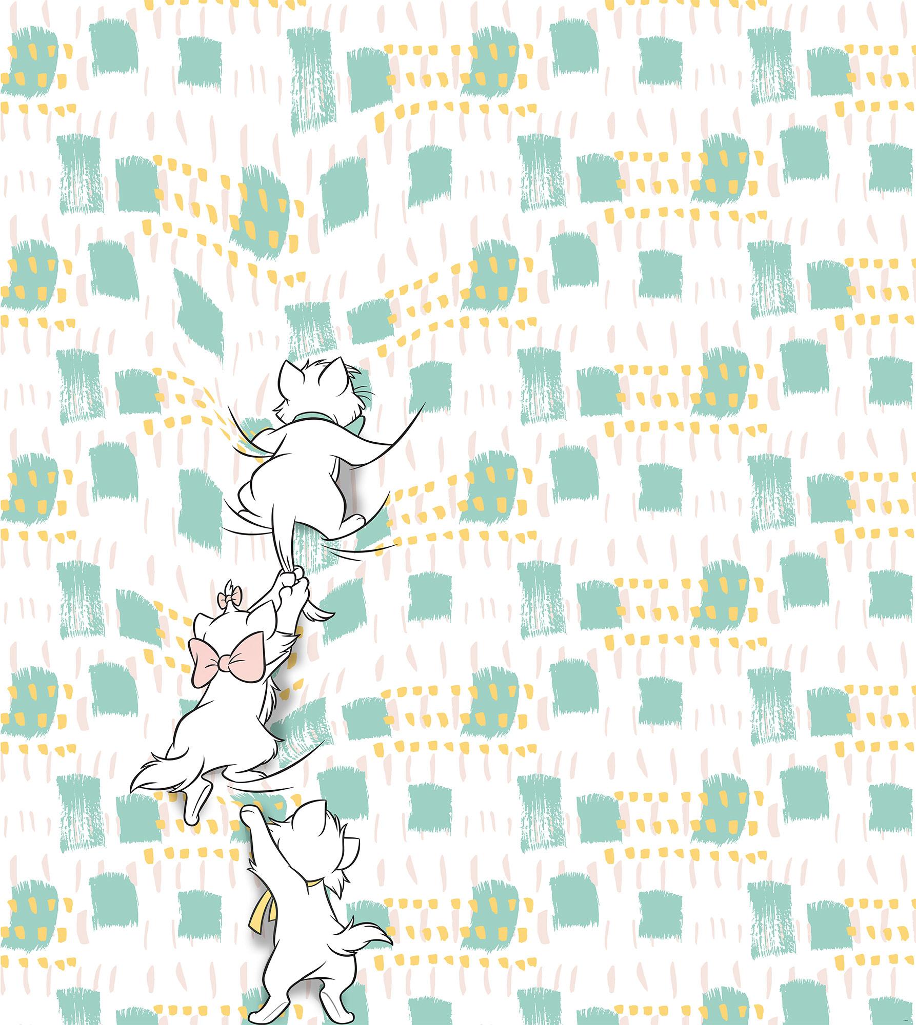 Disney Edition 4 Kinderbehang Komar - Kinderkamer behang Kitty Climbers
