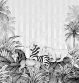 Disney Edition 4 Kinderbehang Komar - Kinderkamer behang Lion King Monochrome