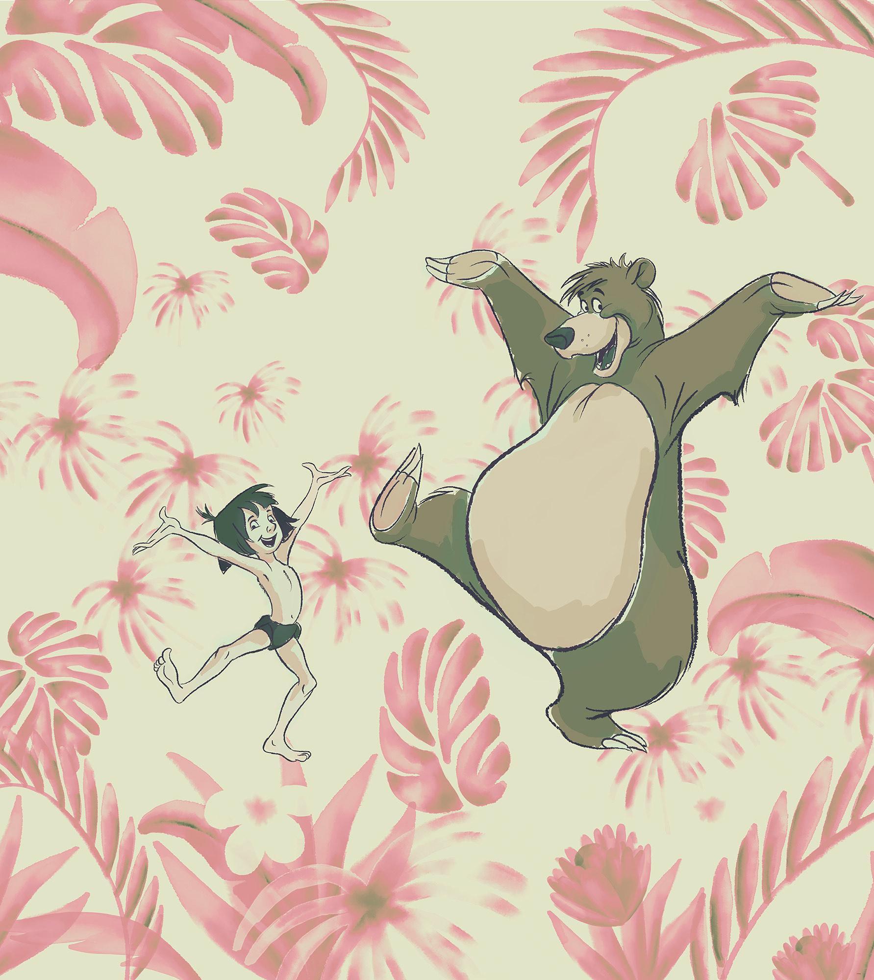 Disney Edition 4 Kinderbehang Komar - Kinderkamer behang Dance the Jungle