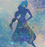 Disney Edition 4 Kinderbehang Komar - Kinderkamer behang Jasmin Silouhette