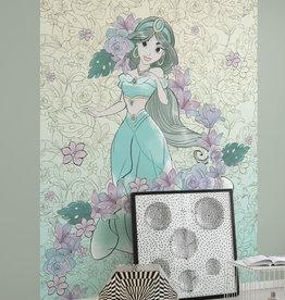Disney Edition 4 Kinderbehang Komar - Kinderkamer behang Jasmin Pale Flowers