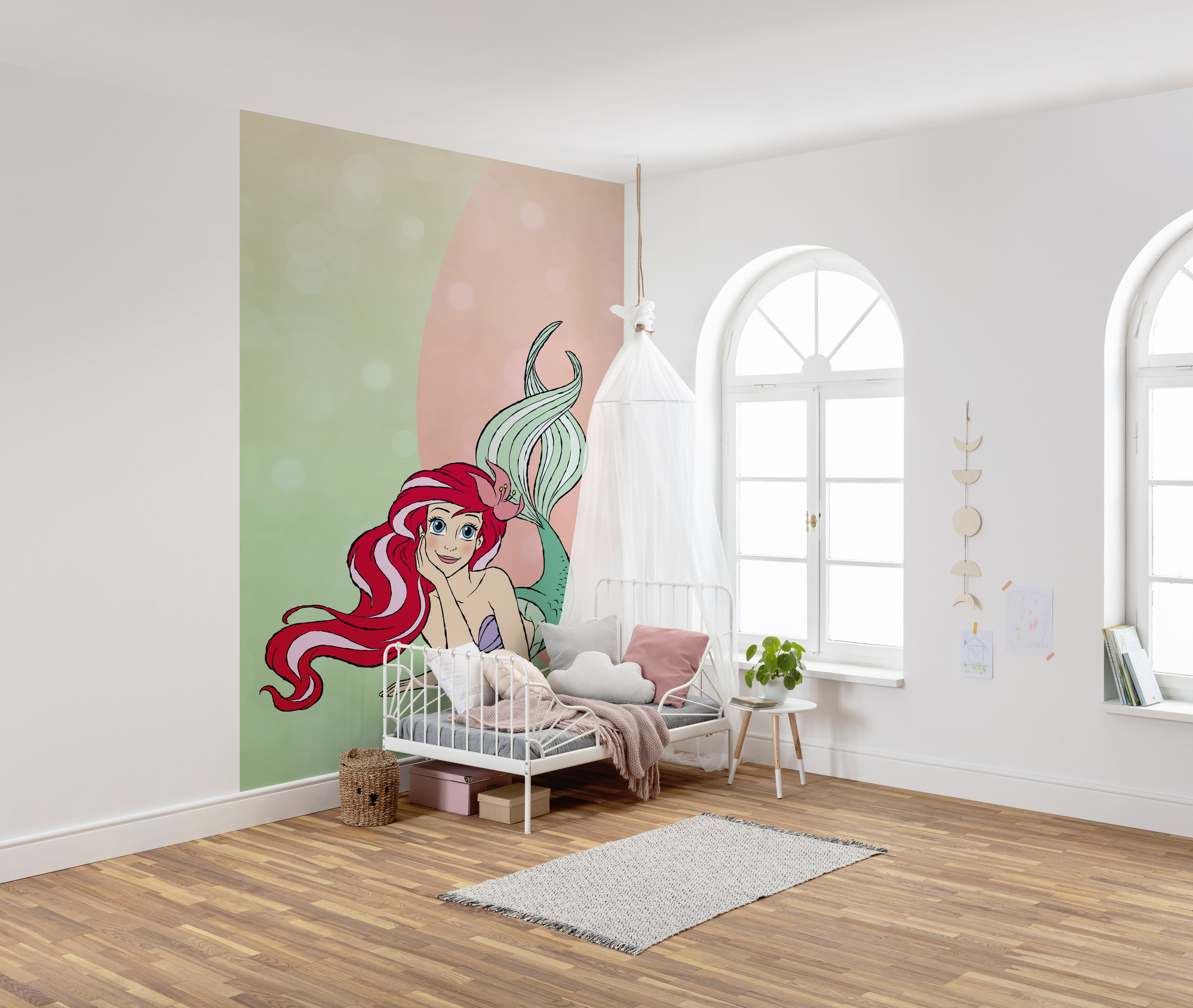Disney Edition 4 Kinderbehang Komar - Kinderkamer behang Ariel Pastell