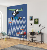 Disney Edition 4 Kinderbehang Komar - Kinderkamer behang Mickey gone Surfin'