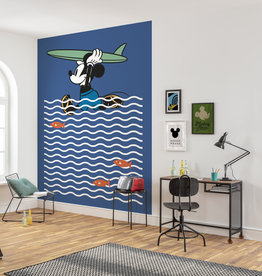 Disney Edition 4 Kinderbehang Komar - Kinderkamer behang Mickey gone Surfin'