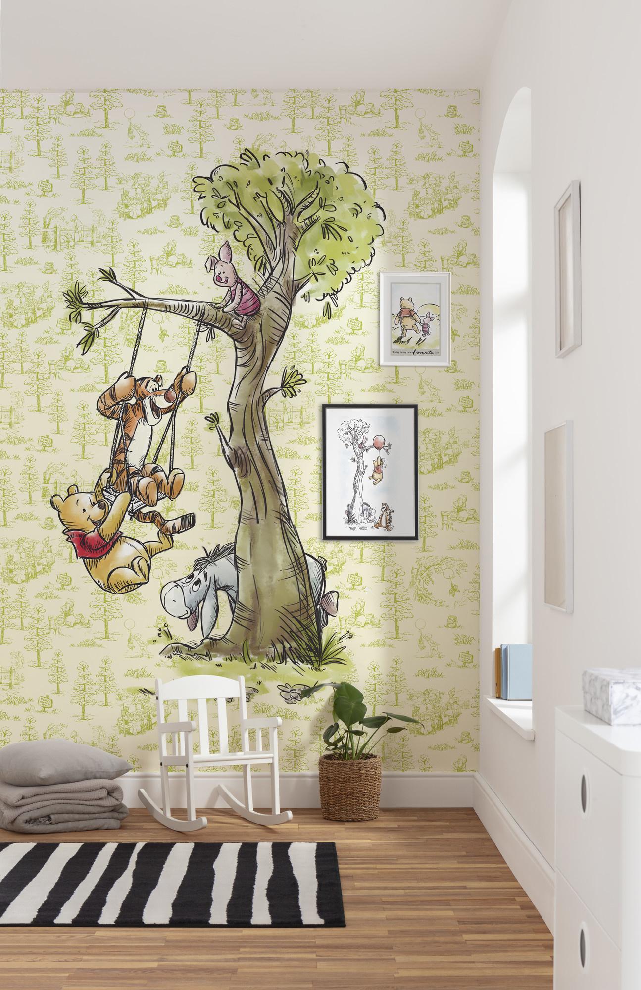 Disney Edition 4 Kinderbehang Komar - Kinderkamer behang Winnie Pooh in the wood